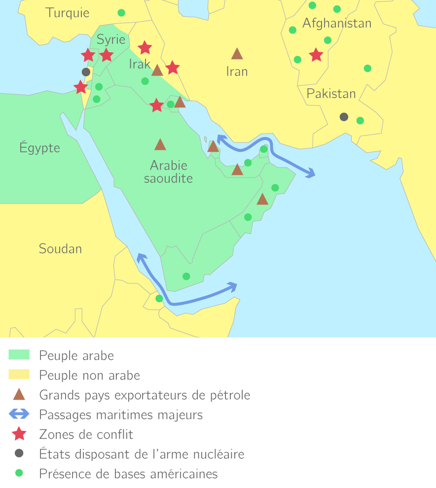 Le Moyen-Orient, une zone de conflits