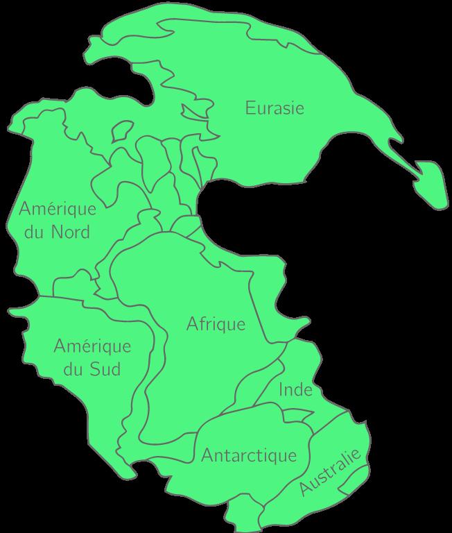Carte de la Pangée