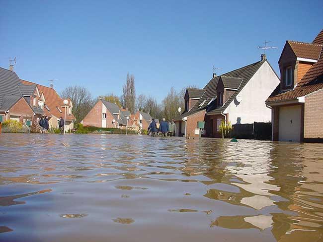Photo d'inondation en ville