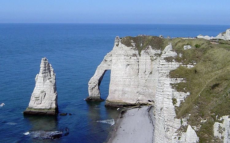 Les falaises d'Étretat, en France