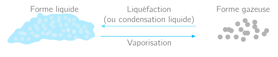 Les changements d'état liquide − gaz