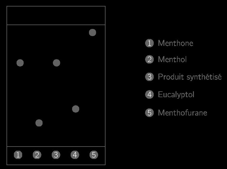 Chromatogramme consécutif à une synthèse