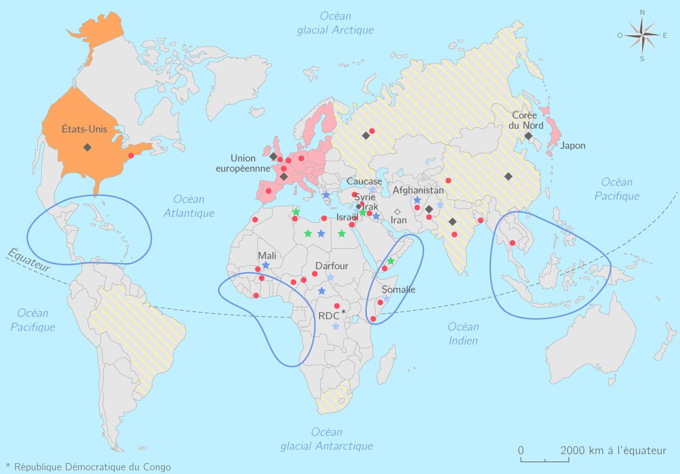 La géopolitique du monde actuel
