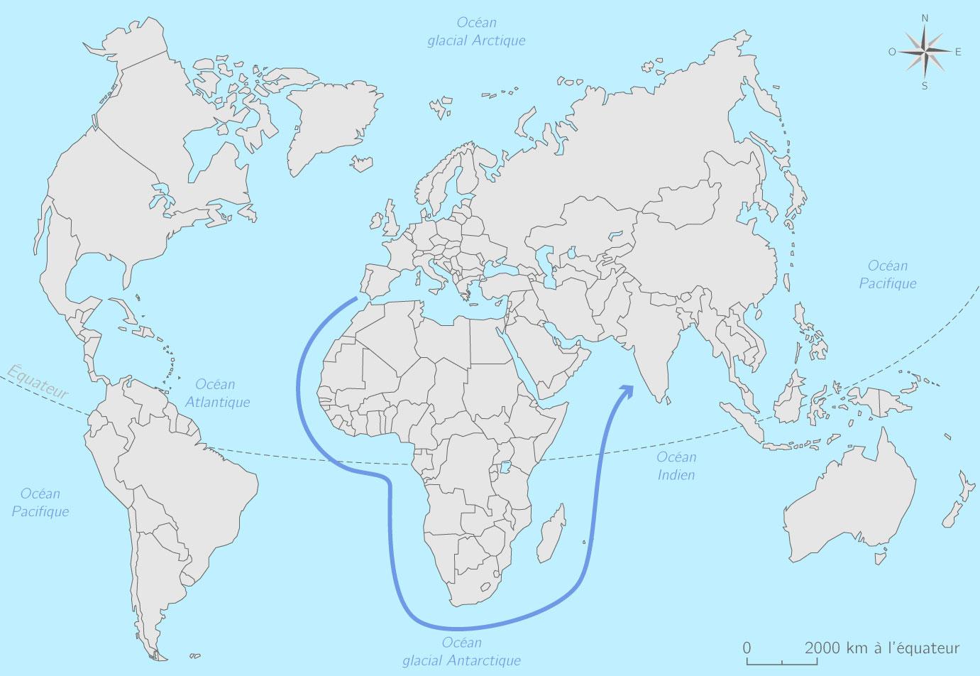 Compléter la carte des voyages de découvertes - 5e ...