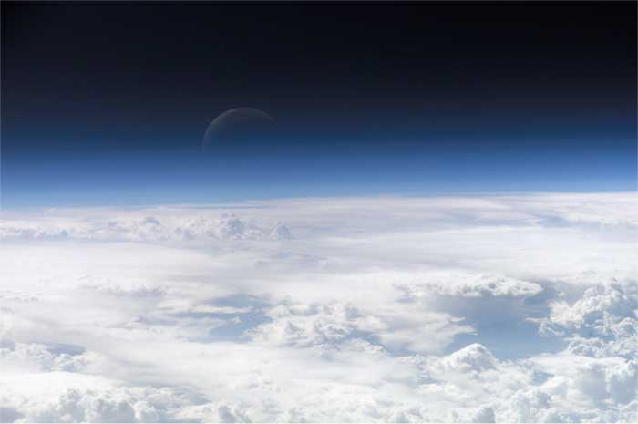 Photo des couches hautes de l'atmosphère terrestre