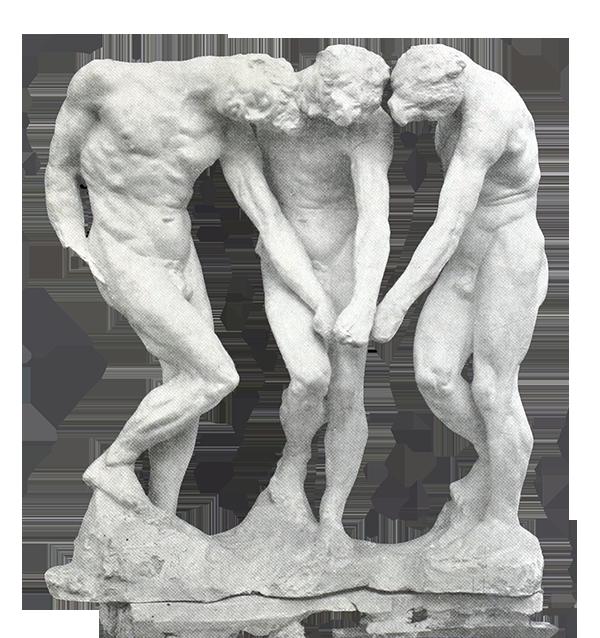 """""""Les Trois Ombres"""", Auguste Rodin"""