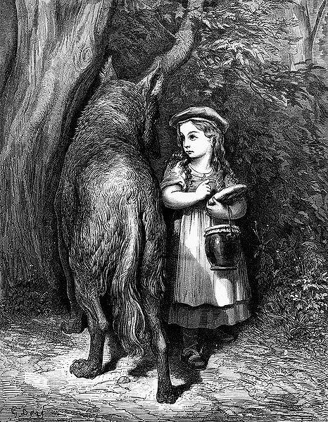 """""""Le Petit Chaperon Rouge"""", Gustave Doré"""
