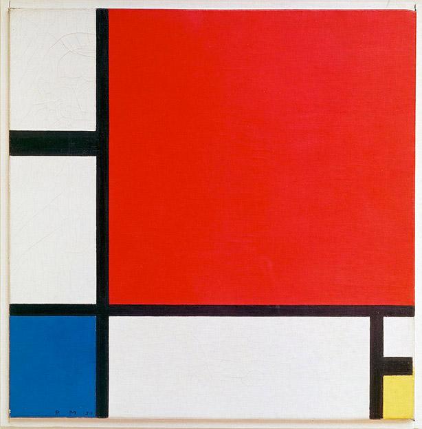 """Composition II en rouge, bleu et jaune"", Piet Mondrian"