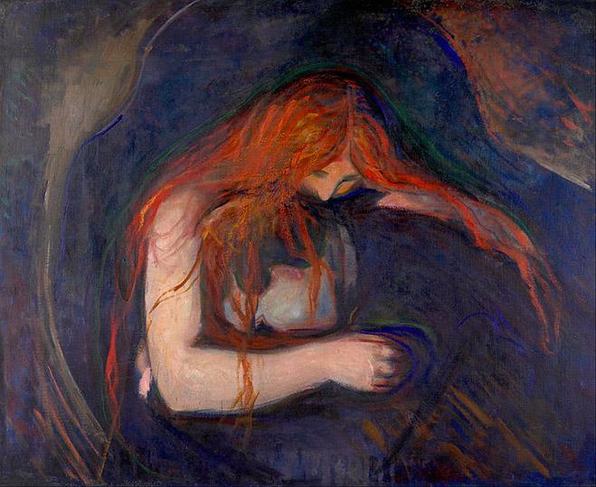 """""""Vampire"""", Edvard Munch"""