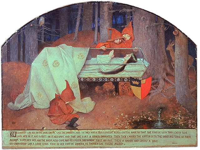 """Blanche neige"", Marianne Stokes"
