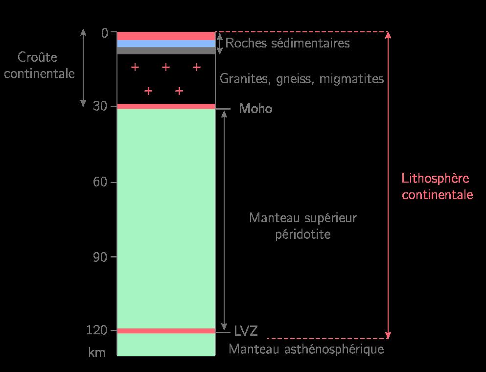La structure de la lithosphère continentale