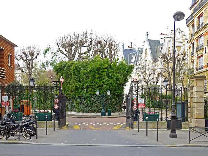 La villa Montmorency dans le XVIe arrondissement de Paris