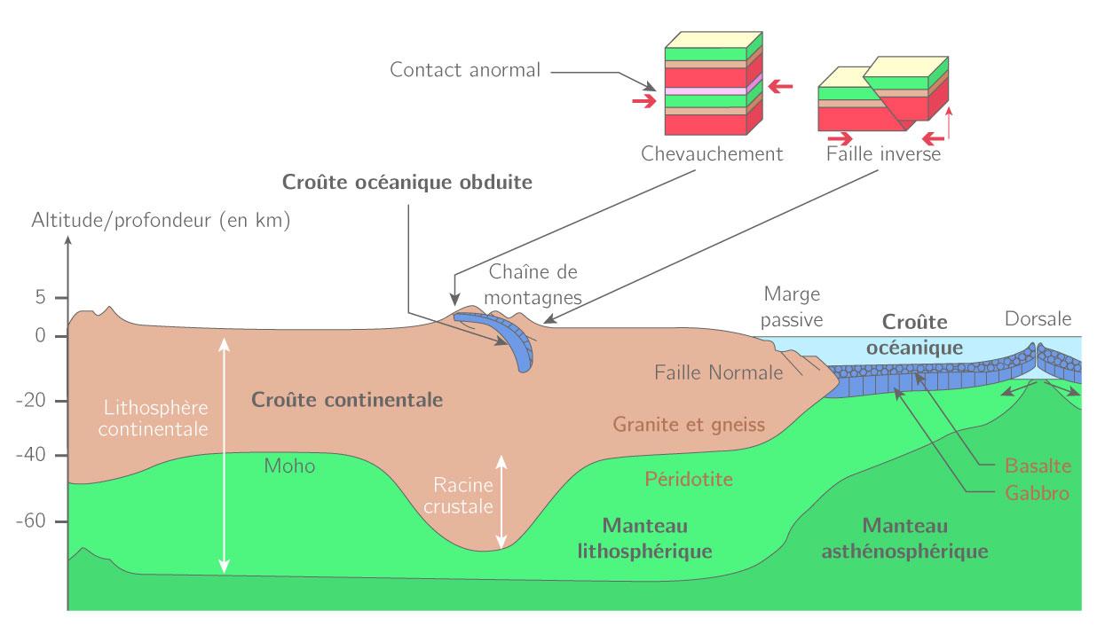Les caractéristiques de la croûte continentale