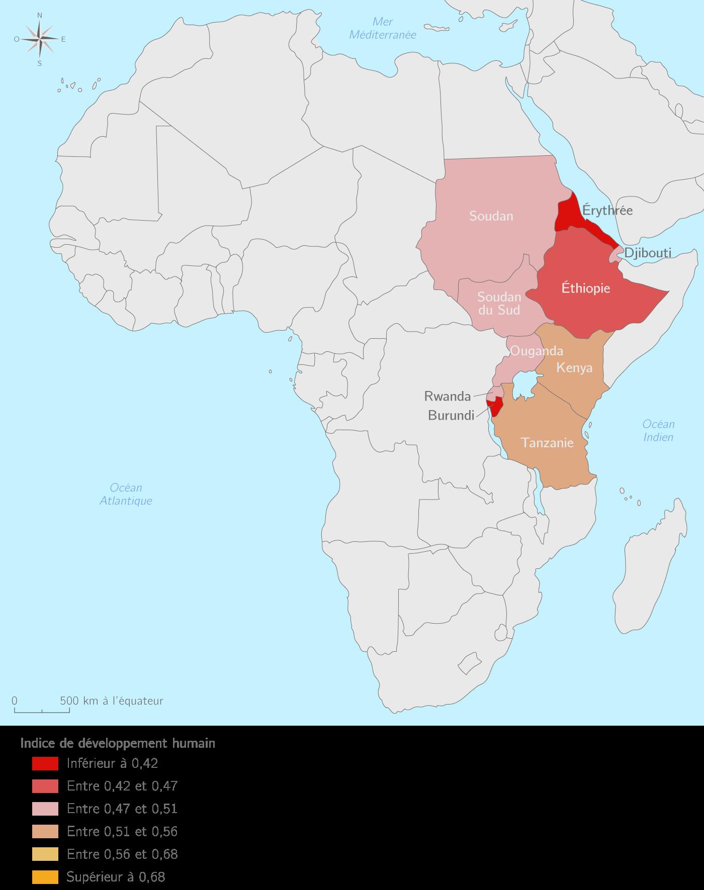 Le développement humain en Afrique de l'Est
