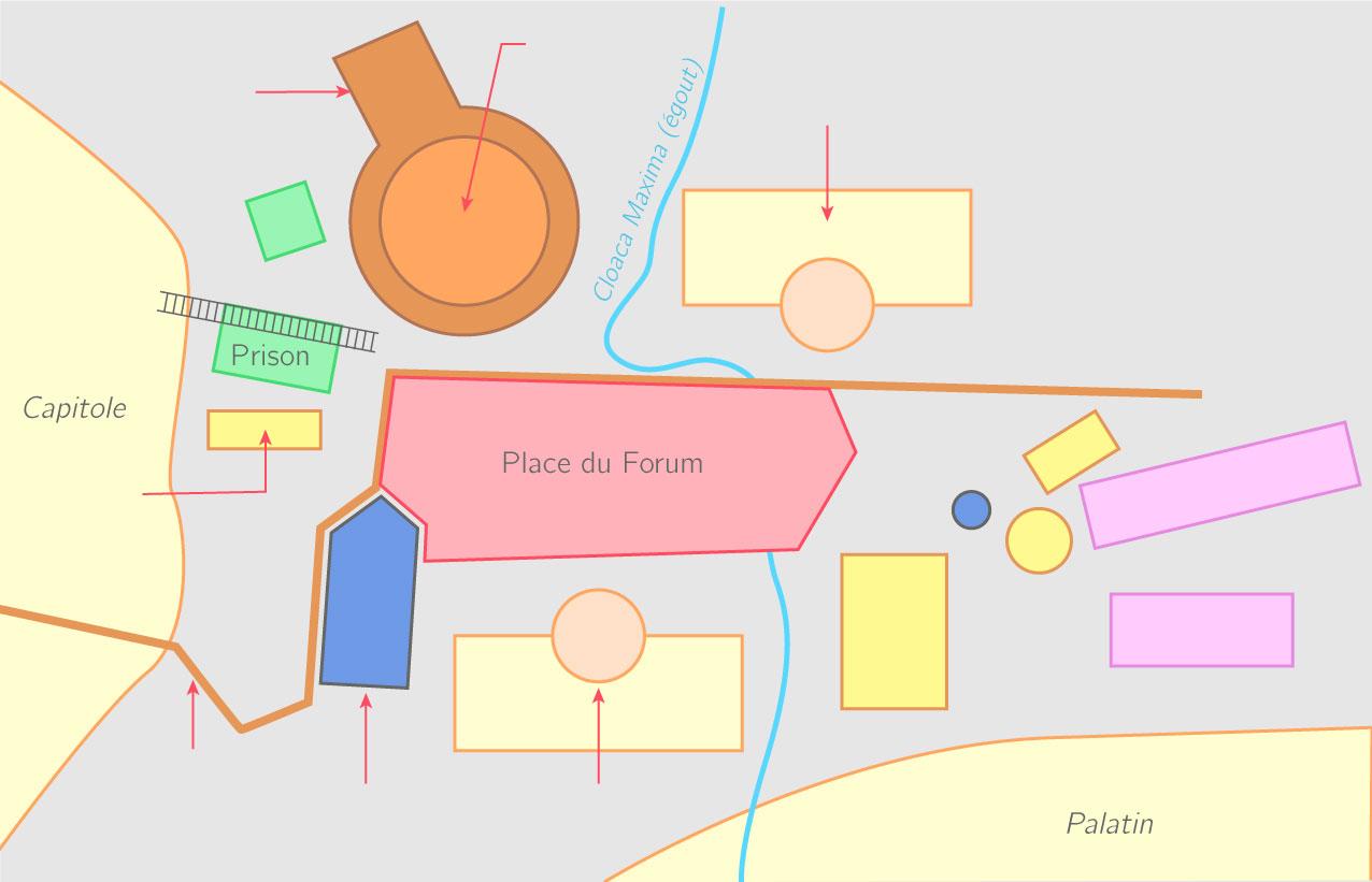 0b5c3a73dad929 Compléter le schéma du forum romain sous la République Exercice fondamental