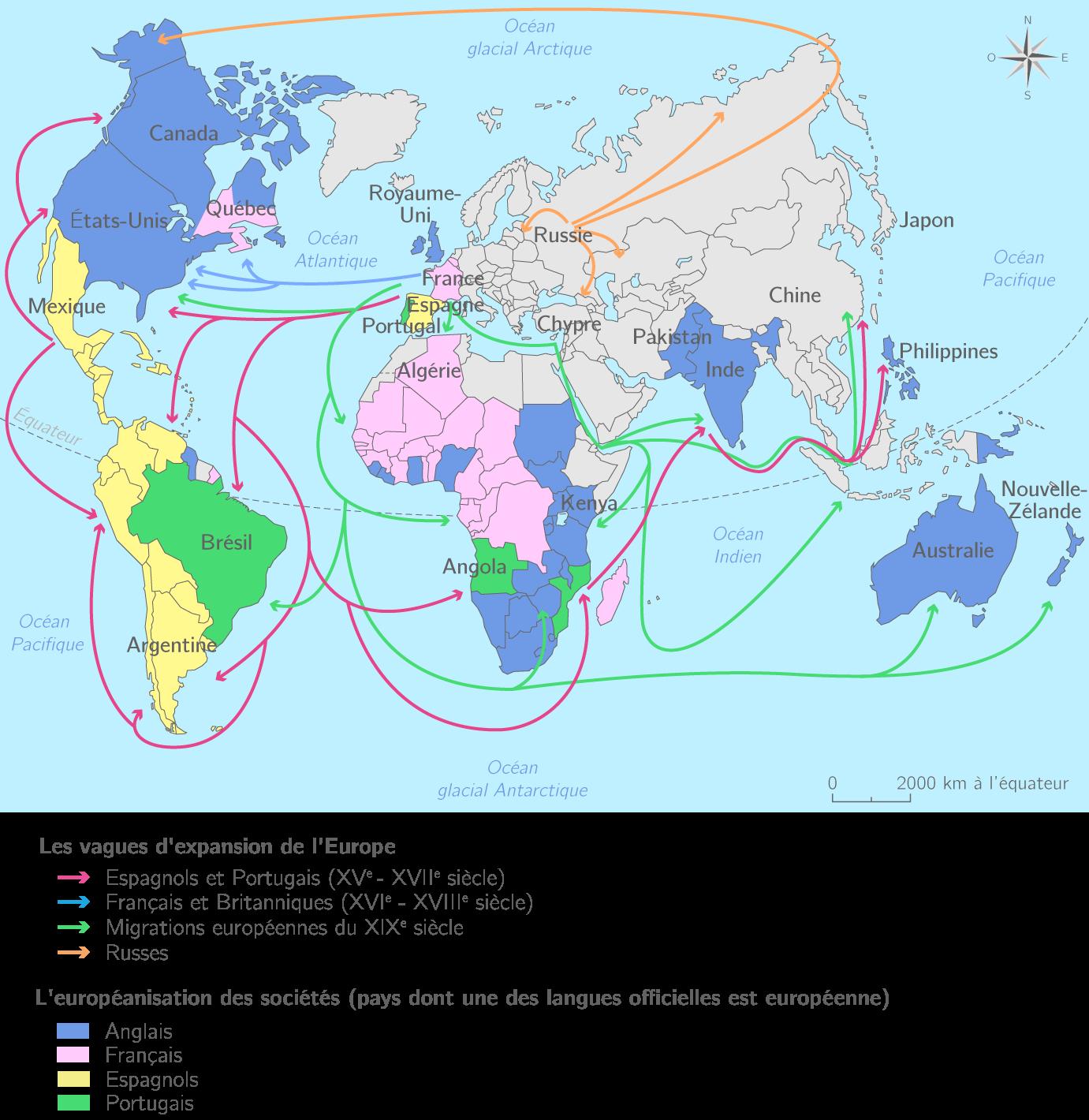 L'européanisation du monde au XIXe siècle