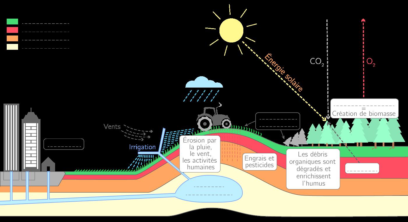 Compléter un schéma sur l'utilisation des sols - 2nde ...