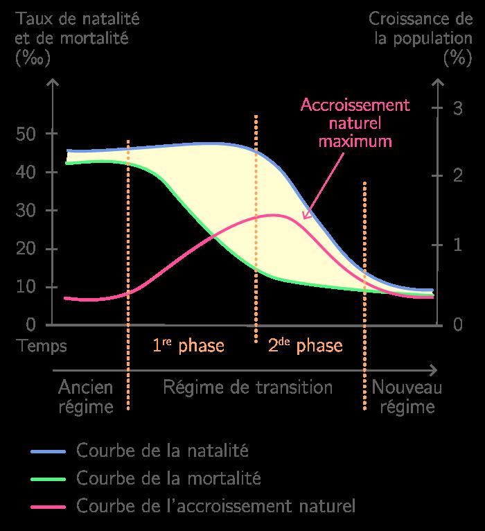 Schéma de la transition démographique