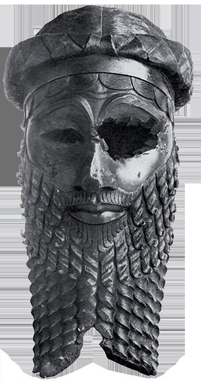 Tête en bronze représentant très probablement Sargon d'Akkad