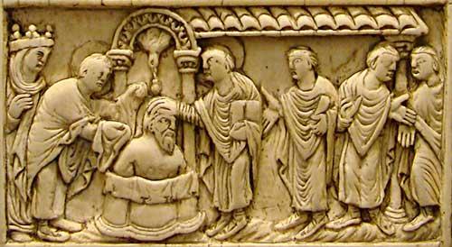 Le baptême de Clovis par saint Rémi