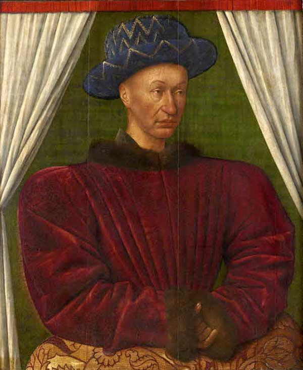 Charles VII par Jean Fouquet