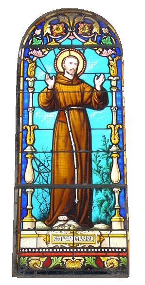 Vitrail représentant saint François d'Assise