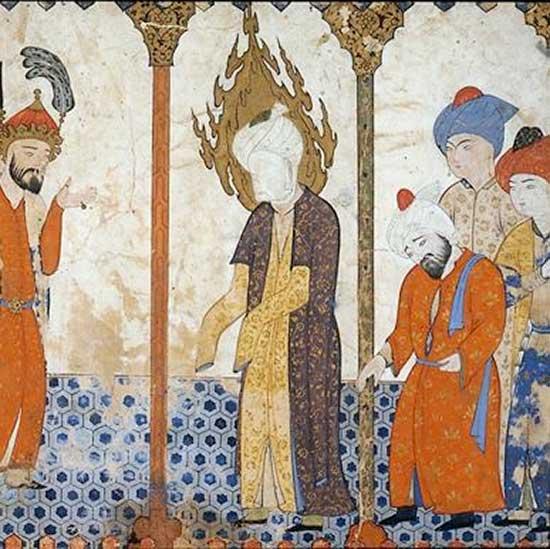 Muhammad à la mosquée