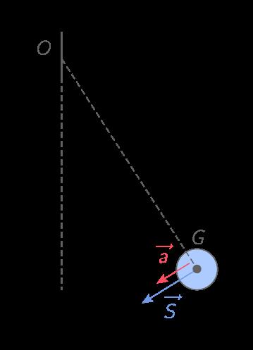 Vecteurs accélération et résultante des forces