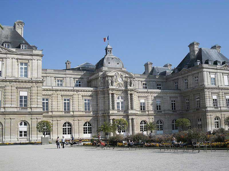 Le palais du Luxembourg, siège du Sénat, Paris