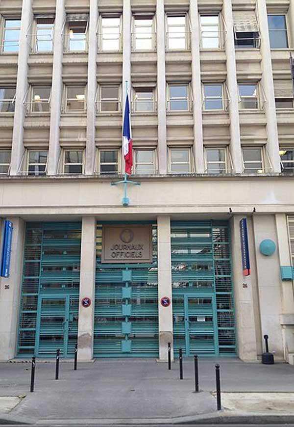 Bâtiment du Journal Officiel à Paris