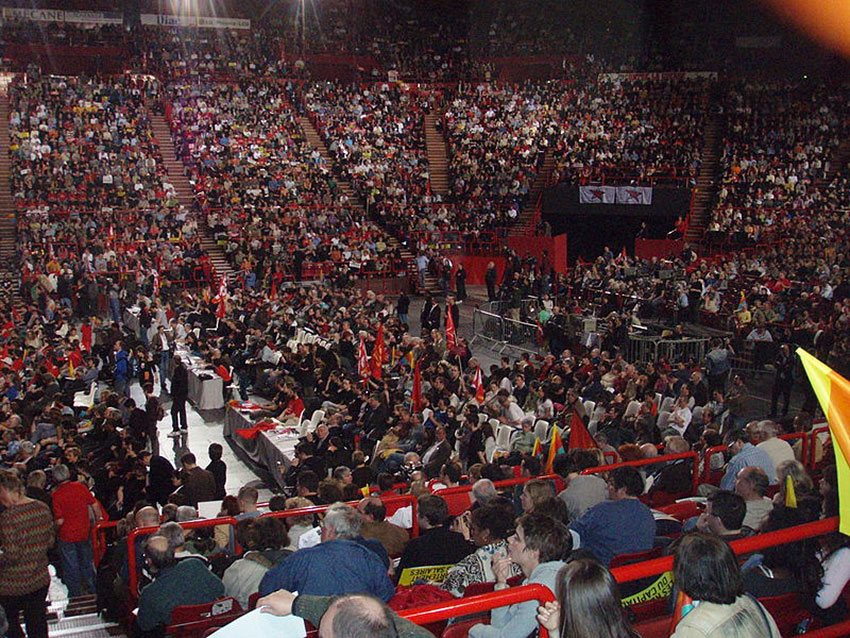 Meeting du Parti communiste français en 2007