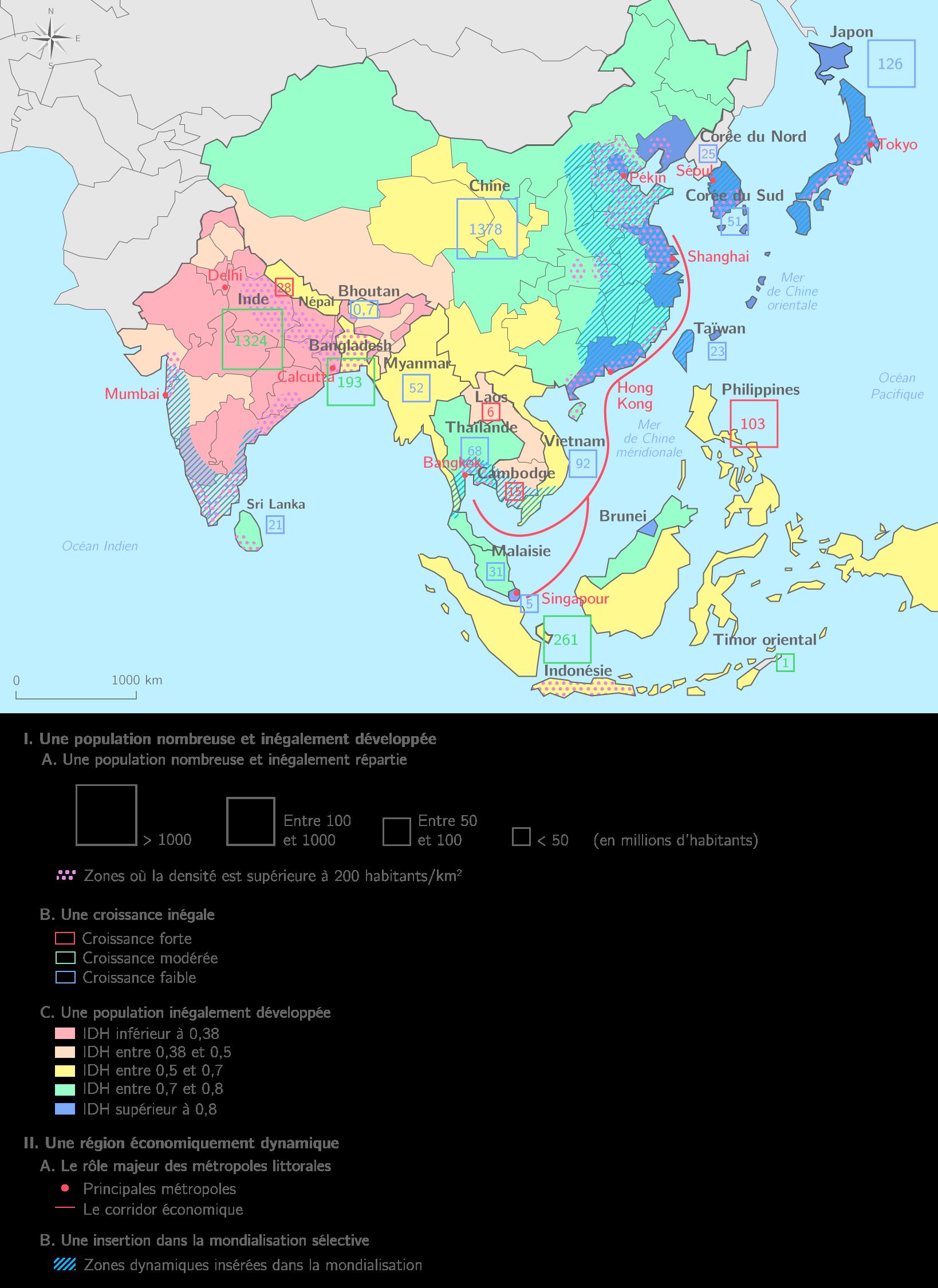 Carte De Lasie De Lest Vierge.L Asie Du Sud Et De L Est Ts Carte Bilan Geographie