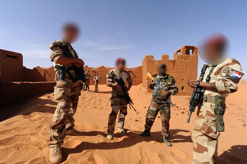Soldats français de l'opération Barkhane dans le fort de Madama au Niger