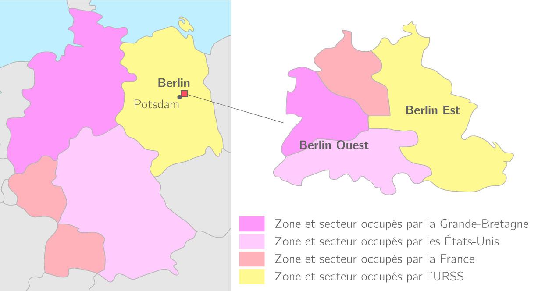 Carte Allemagne Apres Guerre.L Allemagne Et Berlin Dans La Guerre Froide 3e Etude De Cas