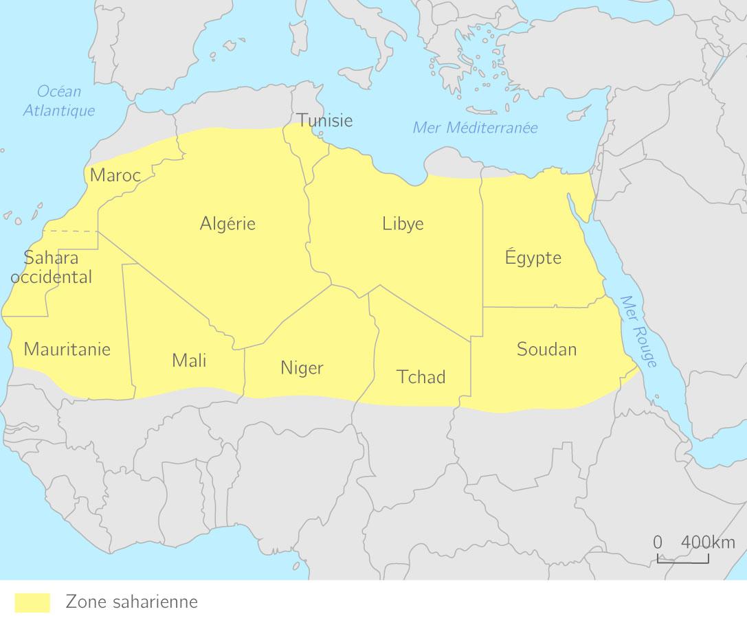 Le Sahara morcelé en plusieurs États