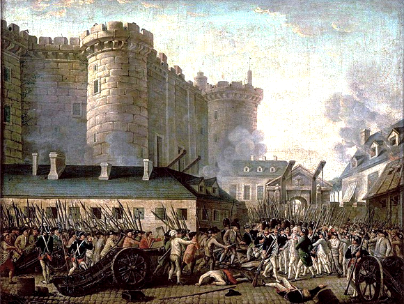 Prise de la Bastille le 14 juillet 1789.