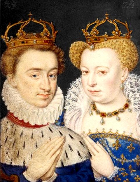 Henri IV et Marguerite de Valois se marient le jour de la Saint-Barthélémy le 24 août 1572.