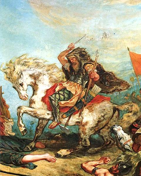 Attila le Hun de Delacroix