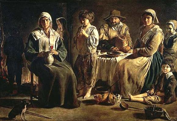 Louis Le Nain, Famille de paysans dans un intérieur.