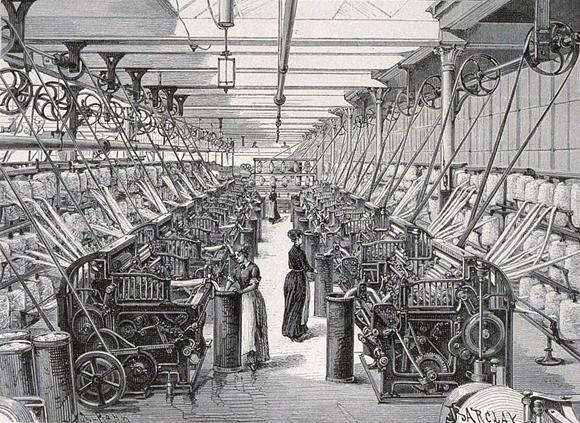 Une usine de textile