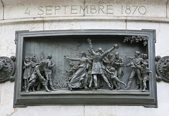 Proclamation de la IIIe République en 1870.