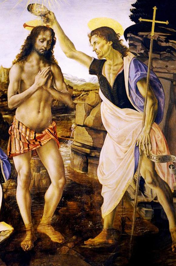 Jésus-Christ baptisé par Jean-Baptiste
