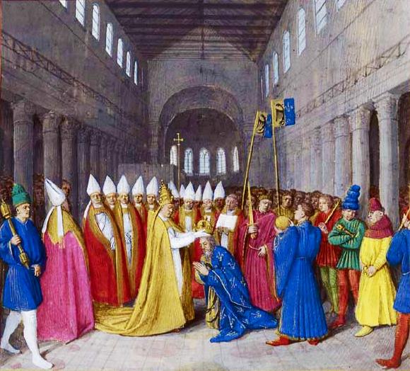 Le sacre de Charlemagne
