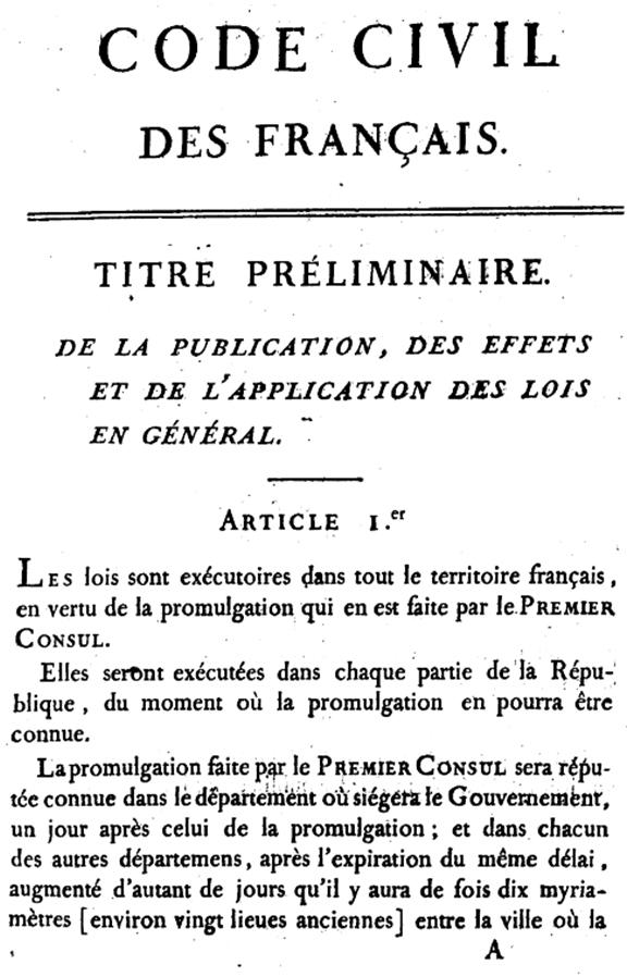 Code civil, 1804