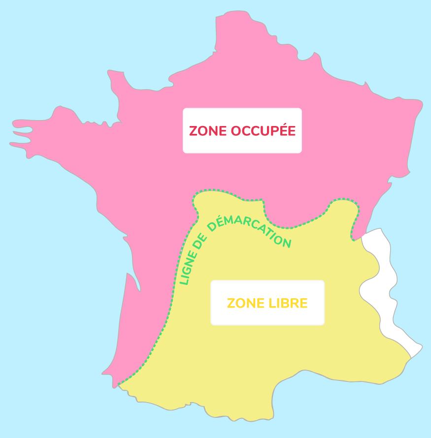 Carte de la France occupée