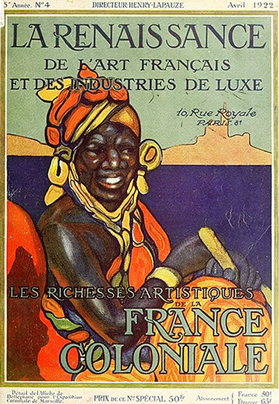 Affiche datant de l'époque de la France coloniale