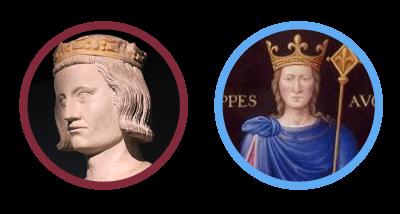 Louis IX et Philippe Auguste