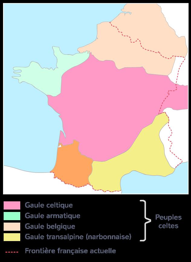 Les différentes tribus gauloises (Ier siècle avant J.-C.)