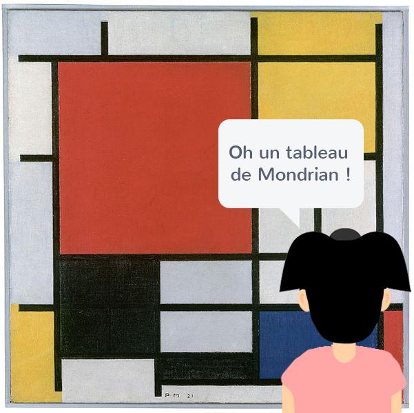 Tableau de Piet Mondrian
