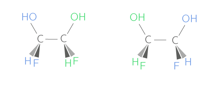 Deux diastéréoisomères du 1,2-dichloroéthan−1,2-diol
